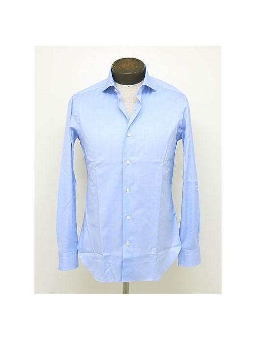BARBA/バルバ ドレスシャツ/ワイドカラー/ロイヤルオックスフォード生地 bar300611,ブルー